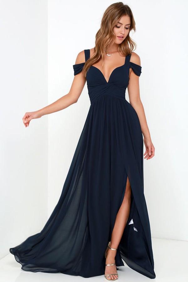 dress blue dress navy dress long prom dress long dress