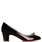 Pyramidame 45mm patent-leather pumps