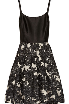 Silk-twill and wool-blend jacquard dress | THE OUTNET
