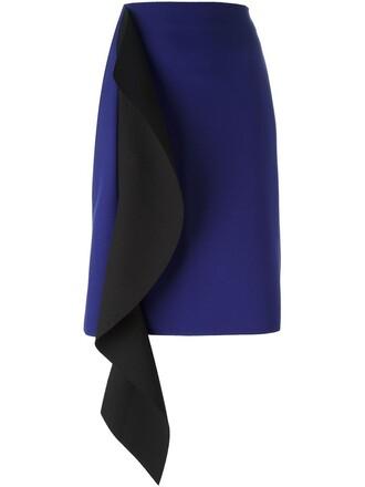 skirt draped blue