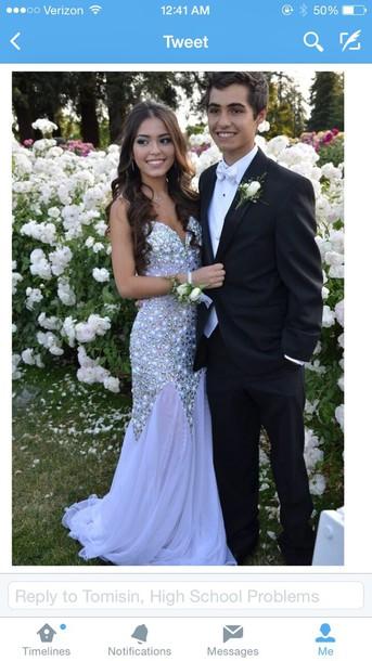 dress prom dress prom gown purple dress