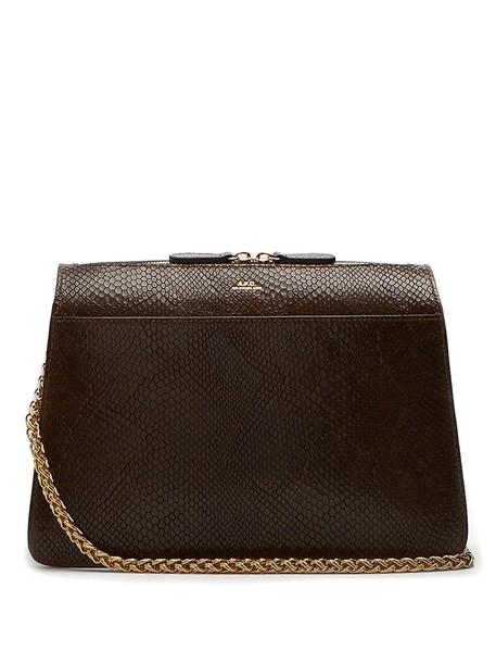 A.P.C. bag shoulder bag leather khaki