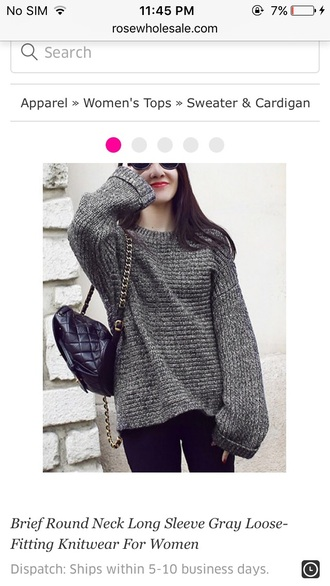 sweater girly girl girly wishlist oversized sweater grey grey sweater