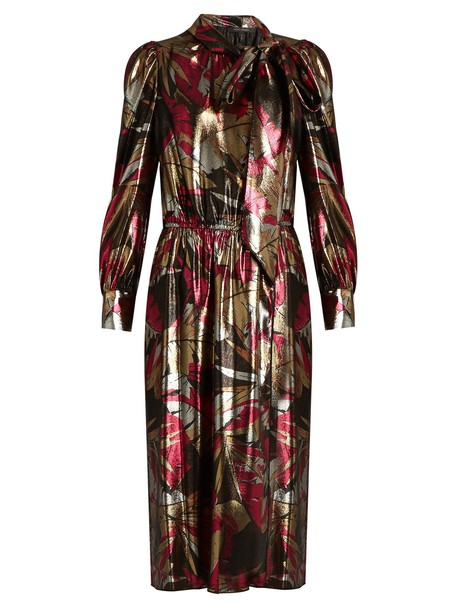 Marc Jacobs dress silk print pink