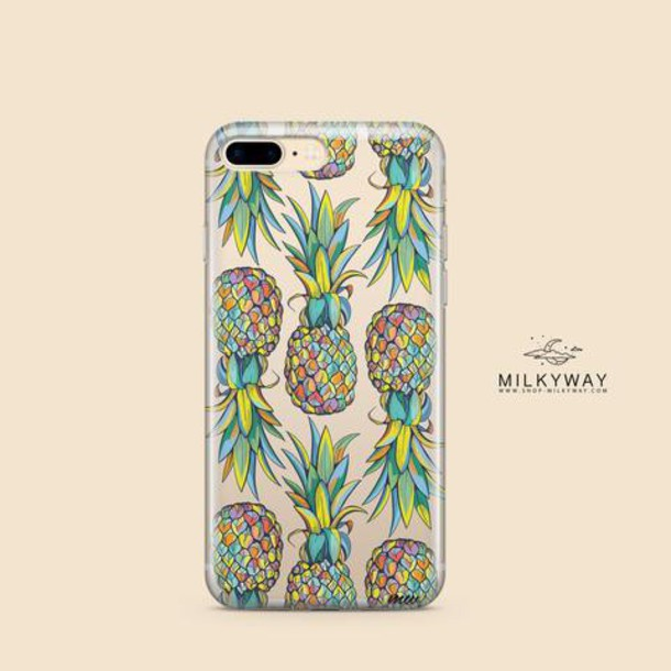 Milkyway Cases CLEAR TPU CASE COVER - HAWAIIAN PINEAPPLE
