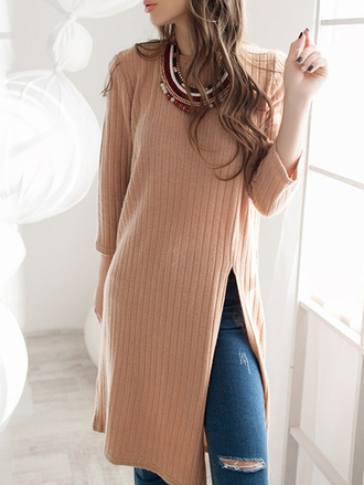 dress beige camel knitted dress fall outfits