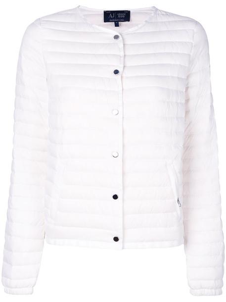 ARMANI JEANS jacket cropped jacket cropped women white