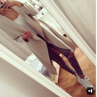 coat nude waterfall summer winter outfits spring fashion