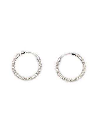 earrings hoop earrings grey jewels