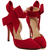 Red With Bow Slingbacks High Heeled Pumps -SheIn(Sheinside)