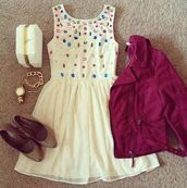 dress,prom dress,clothes,shoes,jewels,jacket,pink,bag,clutch,studs,white,white dress,leather jacket,color/pattern,cute,cool,girly,sparkle,outfit,idea,flats,burgundy,brown,accessories,tumblr,cute dress and matching accessories,coral,beige,weheartit,summer,party,lovely,blue,heels,skater,bracelets,silver,pretty