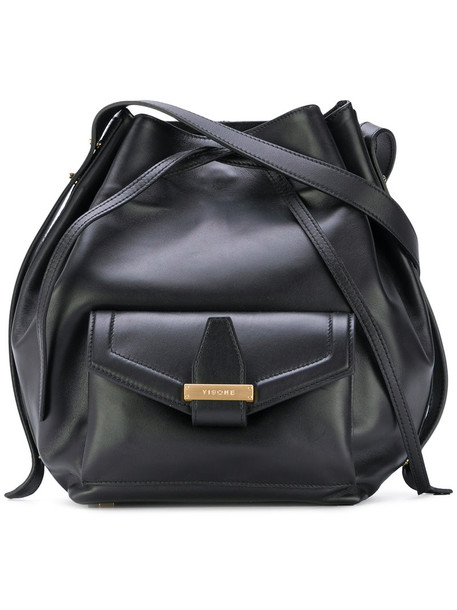 Visone - Abbey large tote bag - women - Leather - One Size, Black, Leather