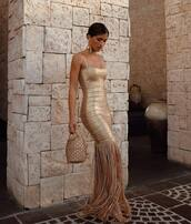 dress,bodycon dress,rocky barnes,instagram,gold dress,metallic,blogger,blogger style,wedding