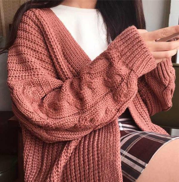 cardigan girly knit knitted cardigan long cardigan pink