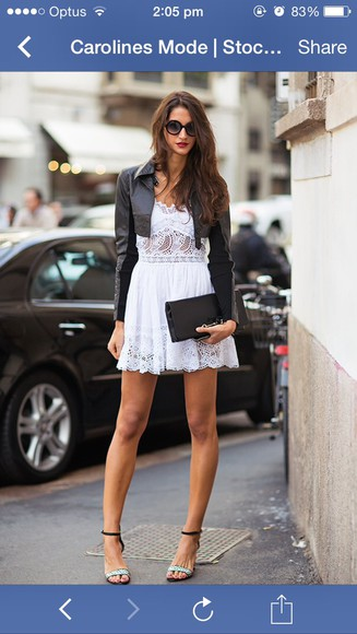 spring white dress white lace dress little white dress minimalism