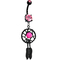 Pink gem black dreamcatcher belly ring