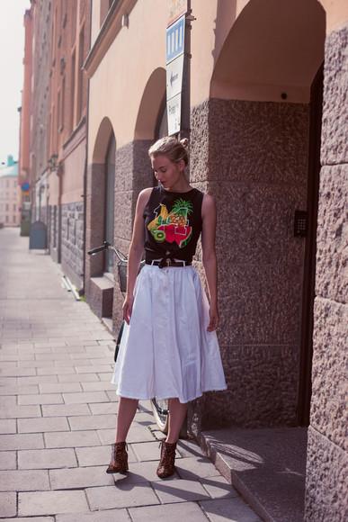 zanita skirt shoes Belt