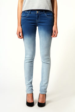 Aveline Ombre Skinny Jeans at boohoo.com