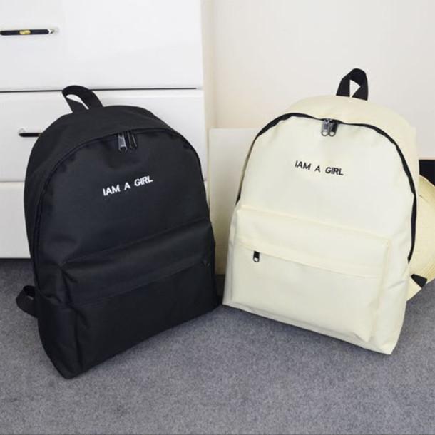 bag black white fashion trendy style back to school backpack boogzel girl  girly girly wishlist black e02bef774ee0