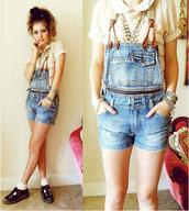 shorts,overalls,shortall,romper,suspenders,dungarees,denim,vintage,zip,jumpsuit