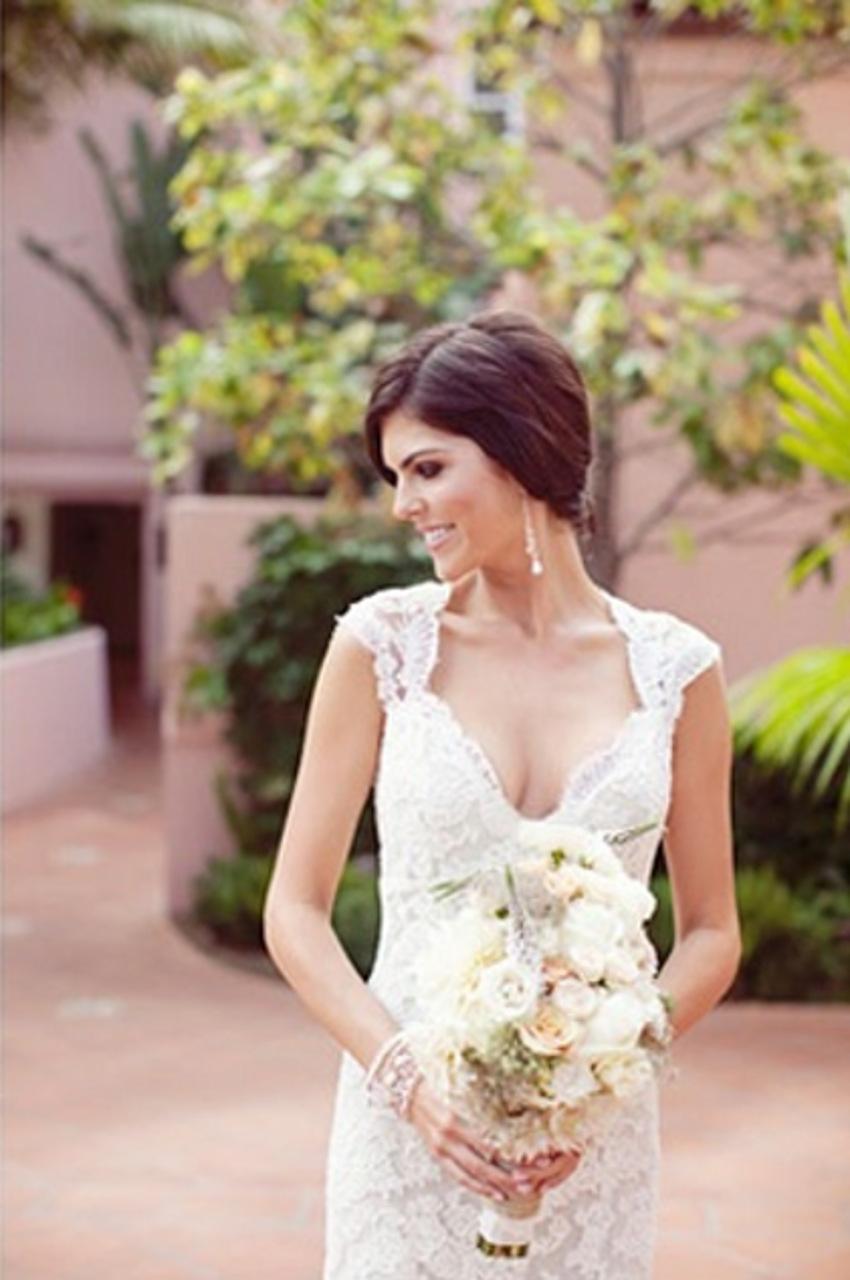 ... pas cher festonné robes de mariée 2015 New Hot de robe de mariée de