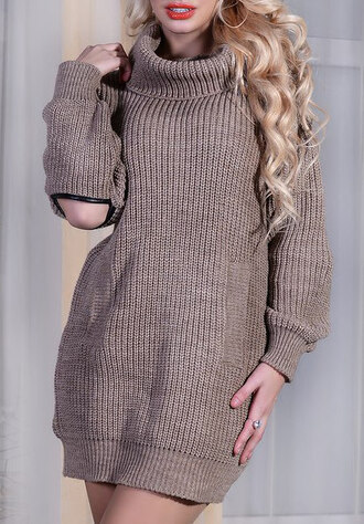 dress trendy boho dress prom dress knitwear knitted sweater knitted dress knitted top shift dress warm sweater dress brown girl girly girly dress girly wishlist outfit outfit idea fall outfits cute outfits streetwear streetstyle