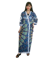 dress,kimono,women kimono robe,mandala kimono,mandala cotton long kimono,beachwear,indian cotton bath robe