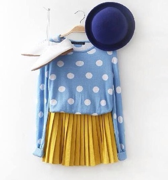 skirt mustard skirt floaty chiffon skirt sweater mustard