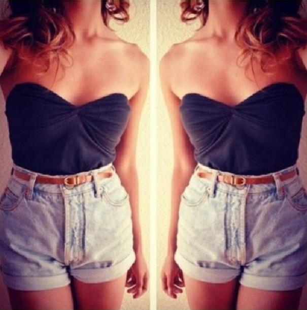 shorts fashion summer denim denim shorts shirt