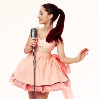 skirt ariana grande pink bow