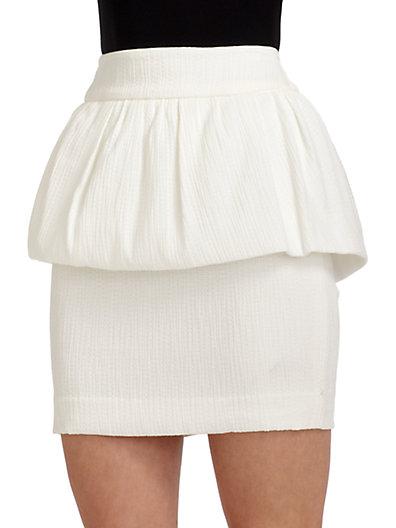 W118 by Walter Baker - Quinn Textured Peplum Skirt - Saks.com