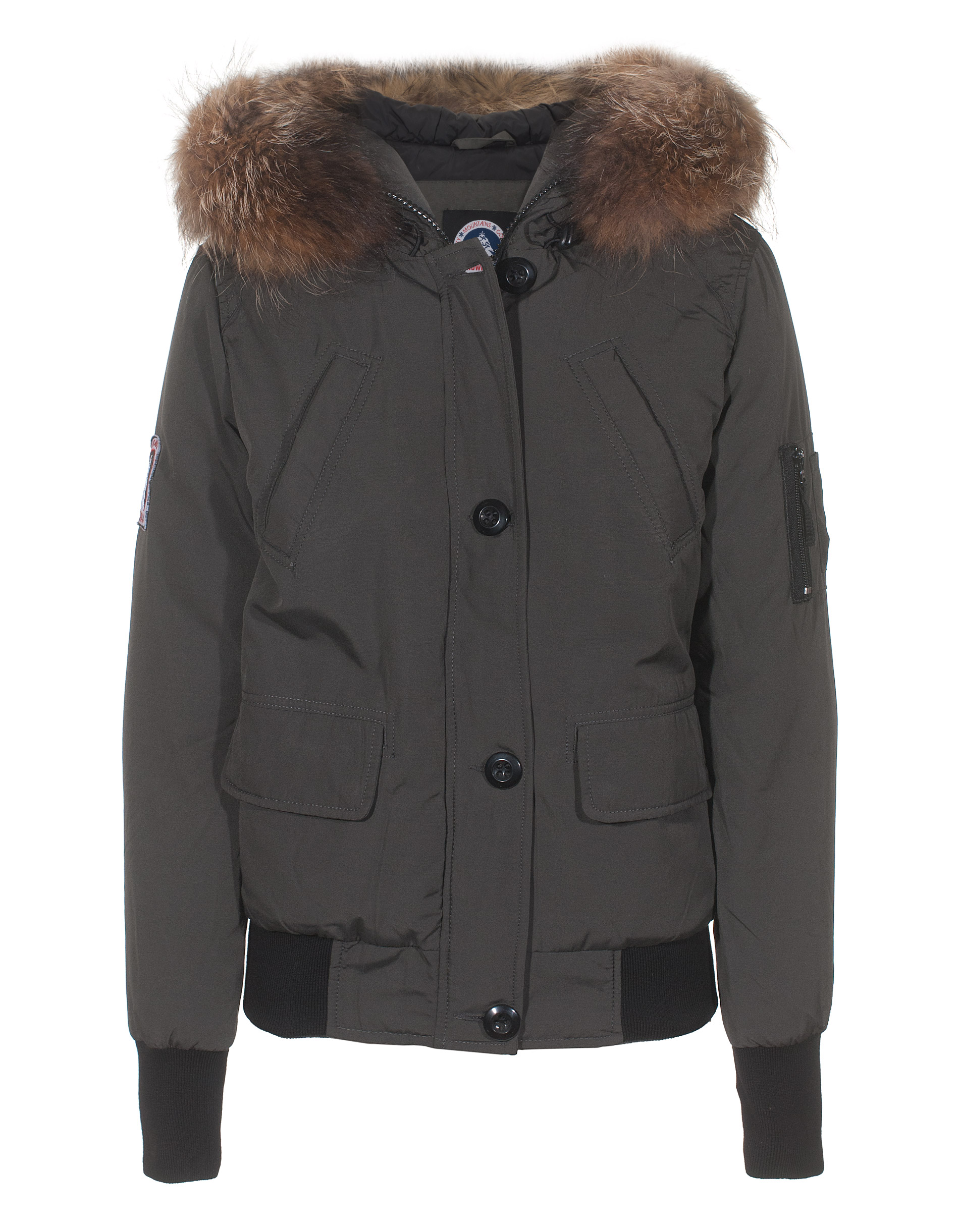 snowmass adventure grey down jacket with furred collar jackets coats