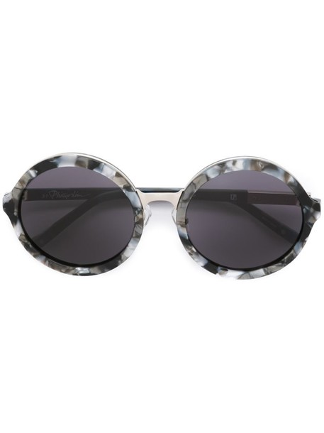 Linda Farrow Gallery - round framed sunglasses - women - Acetate/metal - One Size, Black, Acetate/metal
