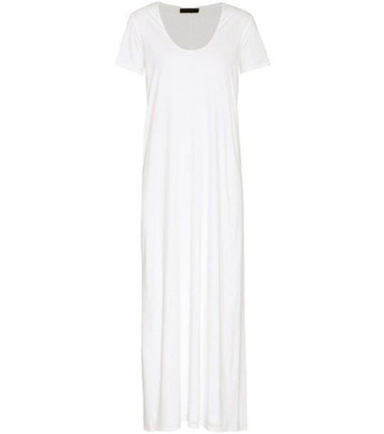 The Row Melen jersey dress in white