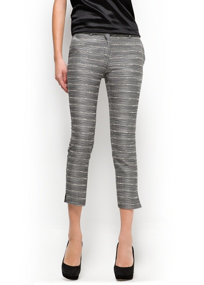 6a7eadfc MANGO - CLOTHING - Trousers - Cropped jacquard trousers