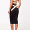 Q1056 quontum nude strap midi plunge backless dress