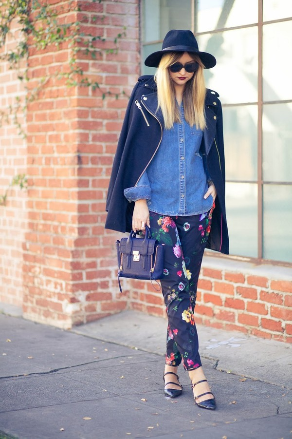 late afternoon pants jacket shoes hat bag sunglasses jewels