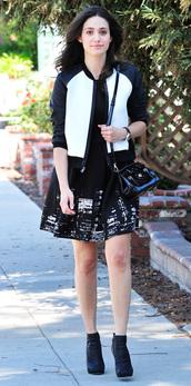 dress,jacket,emmy rossum