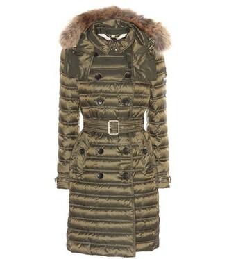 coat fur green