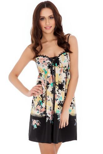 dress summer dress floral silky luxury figure flattering