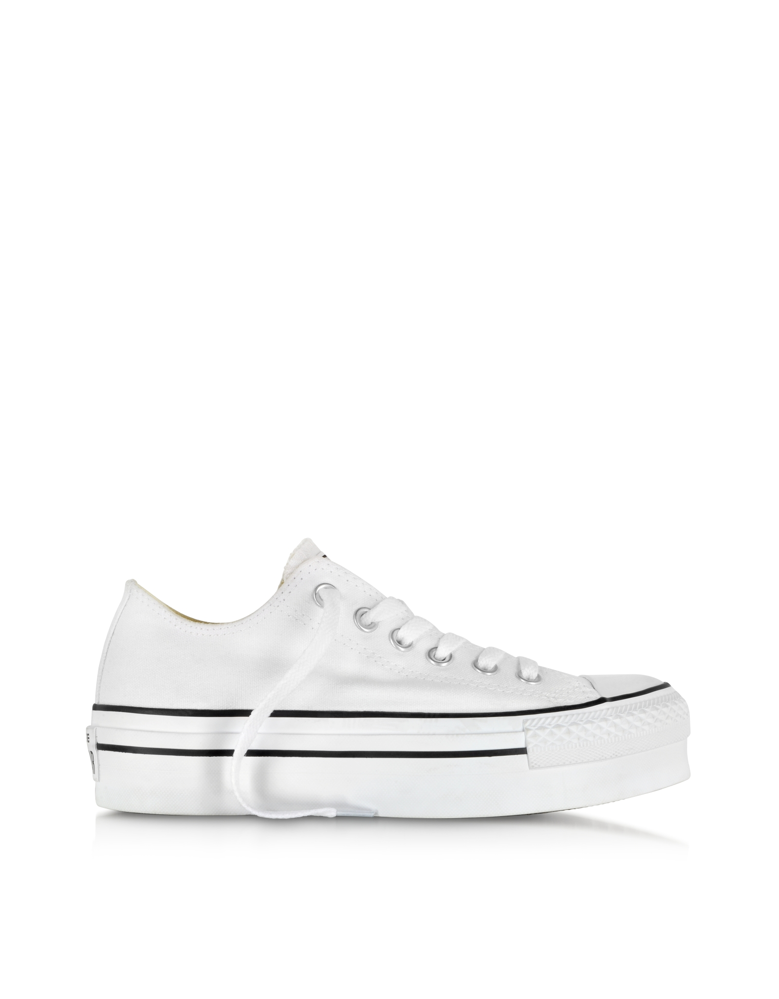 Converse limited edition all star ox white canvas platform sneaker