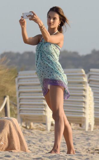 dress cover up alessandra ambrosio summer summer dress beach