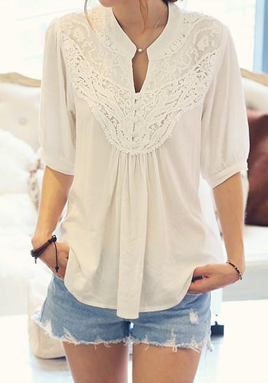White crochet floral