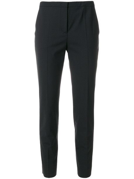 Piazza Sempione cropped women spandex black wool pants