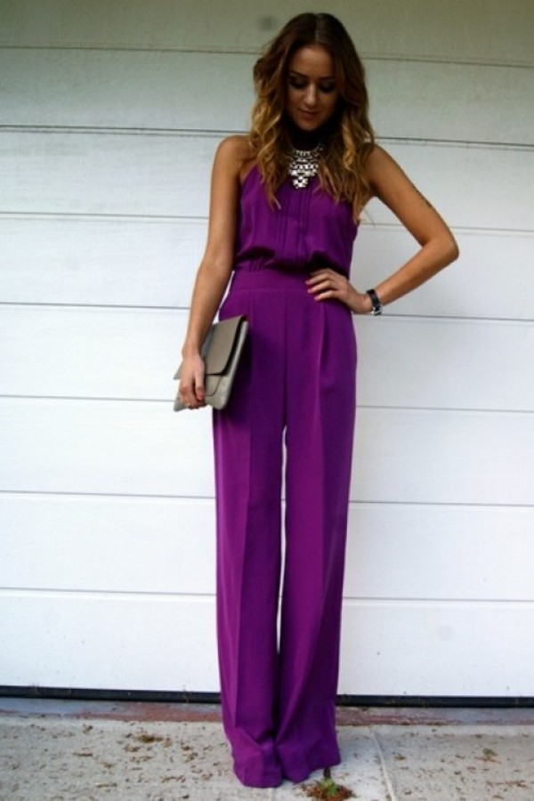 pants clothes jumpsuit purple jumpsuit jumpsuit purple putple