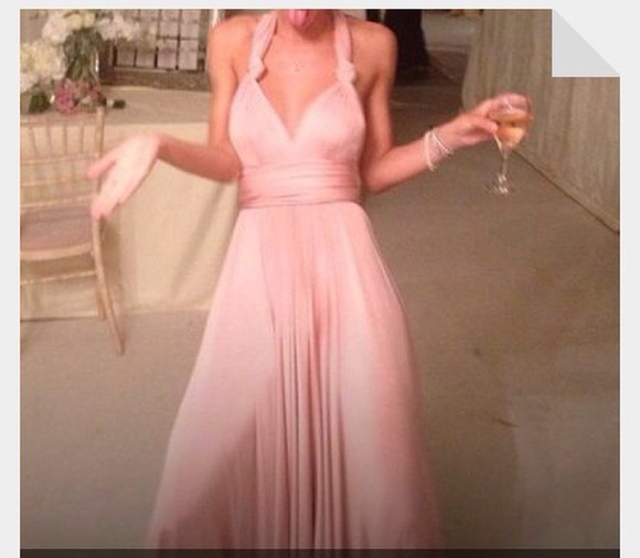 dress fitted dress rose, blush, pink, light pink, baby pink, miu miu, bikini, beachwear, swimwear silk halter top