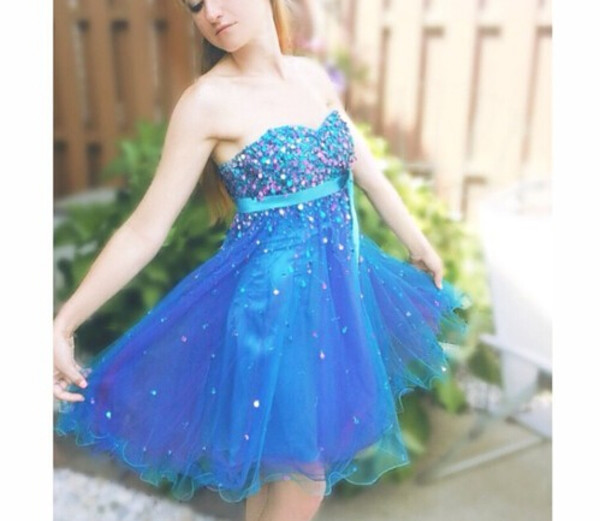 blue dress prom dress short dress homecoming dress homecoming prom
