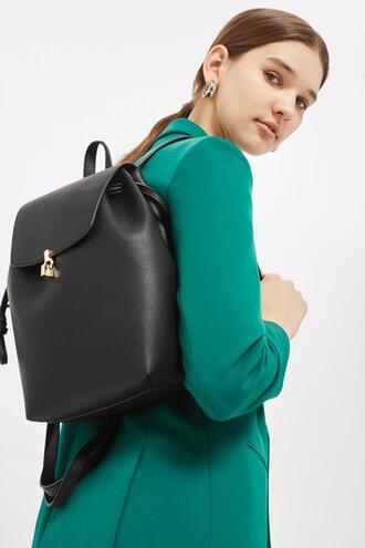 metal backpack black bag