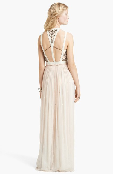dress embellished long prom dresses prom boho prom free people pretty