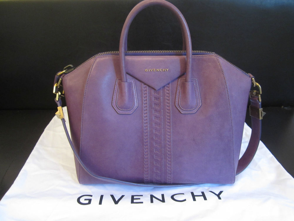 100 Authentic Givenchy Medium Antigona Tote Bag RARE Purple ... affe011974faa